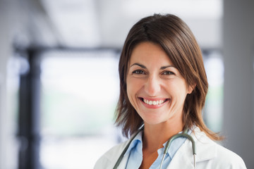 Smiling female doctor