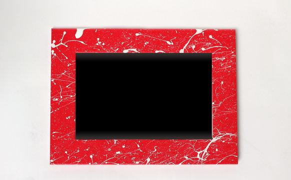 Rahmen rot gesprenkelt