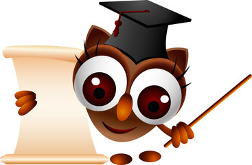 cute owl presenting