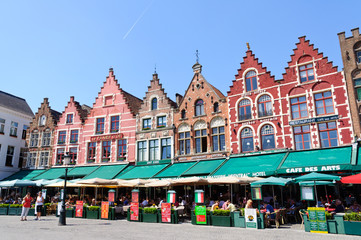 The Markt (Market Square) in Bruges, Belgium