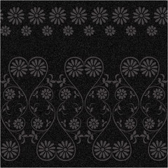 Vintage rustic flower pattern on a gray background