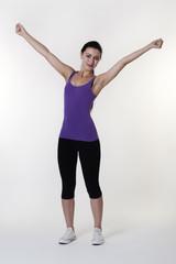 happy doing exercises