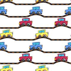Foto op Plexiglas Op straat various cars