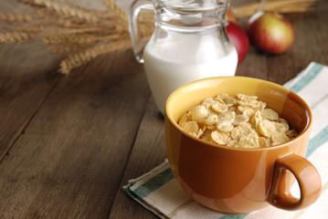 Cereals and milk