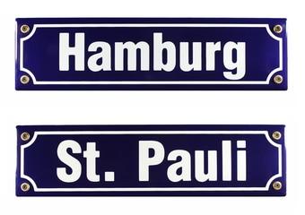 Strassenschild Hamburg St. Pauli