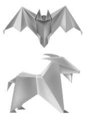 Origami bat goat