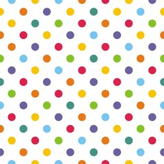 Seamless vector pattern or background with colorful polka dots - 45234745