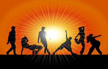 Fototapeta tańczący ludzie obraz