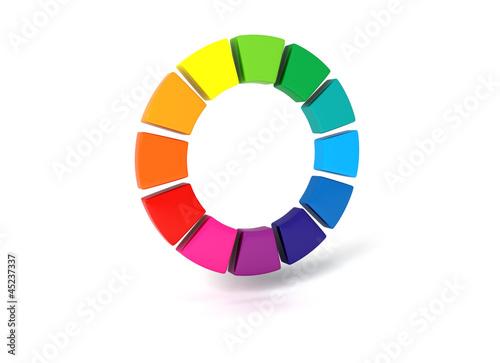 3d farbrad colorwheel farbkreis nach itten stockfotos und lizenzfreie bilder auf. Black Bedroom Furniture Sets. Home Design Ideas