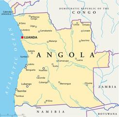 Angola map (Angola Landkarte)