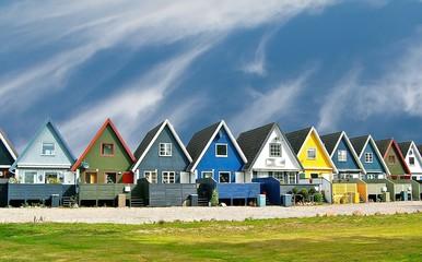 Poster Scandinavië Maisons scandinaves