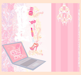 Online shopping - abstract background