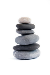 Balanced stack of stones. Zen design concept