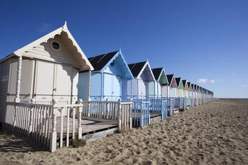 Beach Huts, West Mersea, Essex, England
