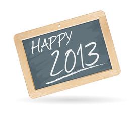 Ardoise : nouvel an 2013 - bonne année 2013