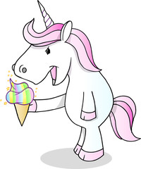 Door stickers Cartoon draw Unicorn