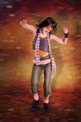 tanzende Frau