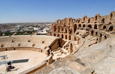 Foto auf Gartenposter Tunesien amphithéâtre d'El Jem ou Colisée de Thysdrus 10