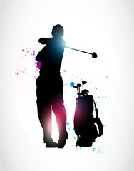 abstract golf player