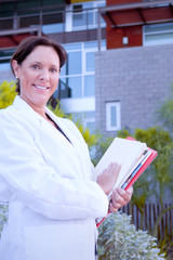 Research Woman Holding Documents