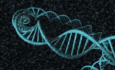 DNA - black background