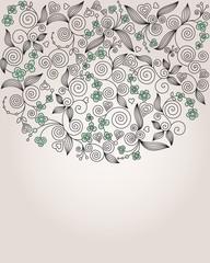 Decorative colorful flower illustration