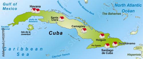 Karte Kuba.Karte Von Kuba Als Infografik Stock Photo And Royalty Free Images