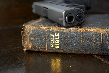 Bible and Pistol