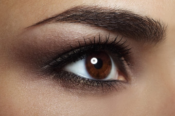 Beautiful female eye Makeup. close-up