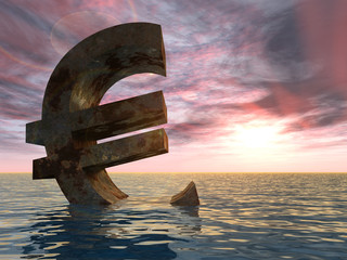 High resolution conceptual 3D currency euro symbol