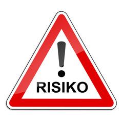 Warnschild RAL 3001 signalrot freigestellt - Risiko