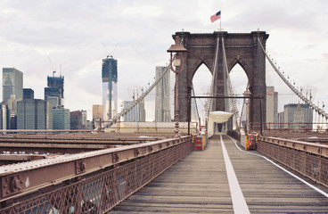 Tuinposter Brooklyn Bridge Brooklyn Bridge in New York City.