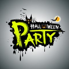 Halloween party. message design, vector