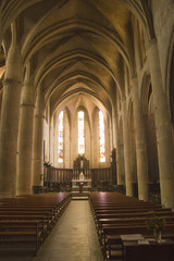 Inside Lombez Cathedral