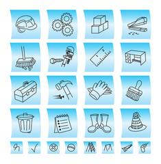 Construction buttons and icons, illustration