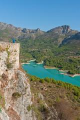 Printed kitchen splashbacks Air photo Views of Reservoir of El Castell de Guadalest, Alicante, Spain
