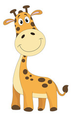 Cute orange giraffe, illustration