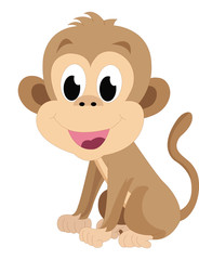 Baby monkey, illustration