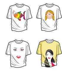 T-shirts, illustration