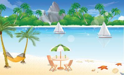 Day at the Beach, illustration