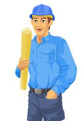 Construction Worker, illustration