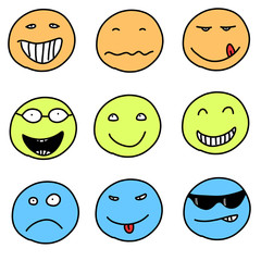 Smileys - vector emotion faces