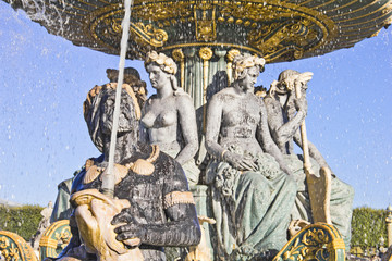 La Fontaine des Fleuves, Place de la Concorde, Paris