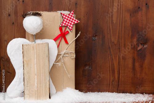 weihnachtlicher rahmen mit engel stockfotos und. Black Bedroom Furniture Sets. Home Design Ideas