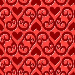 Seamless ornament love pattern