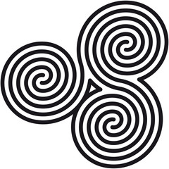 Door stickers Spiral Celtic double spirals labyrinth (Labyrinth keltische Spiralen)