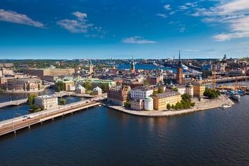 In de dag Stockholm Panorama of Stockholm city