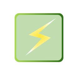 green icon of lightning