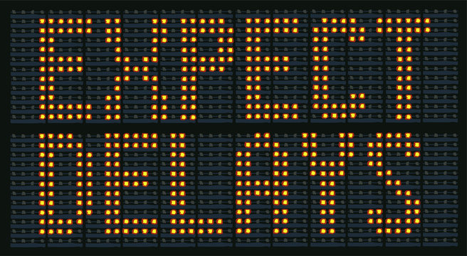 Raster Illustration Of  Congestion Sign Saying Expect Delays
