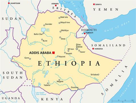 Ethiopia map (Äthiopien Landkarte)